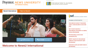 News University International main page